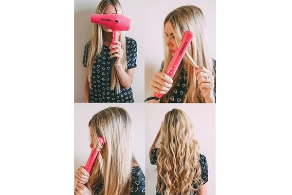 Beachy Waves Hairstyles With Straightener